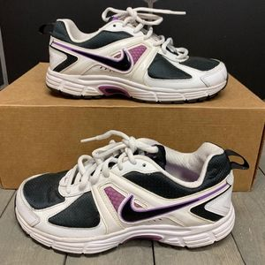 Nike Air Dart 9 Running Shoes White Purple Size 5Y